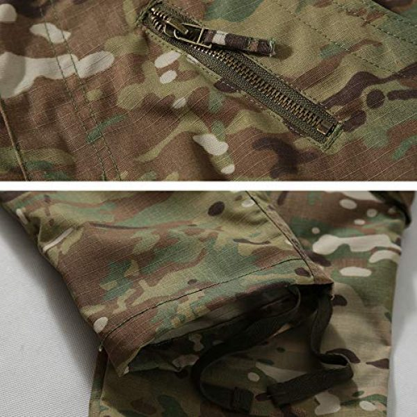 Hellmei Tactical Pant 5 Men's Tactical Pants with Multiple Pockets Men's Military Tactical Casual Camouflage Pants Hiking Pants
