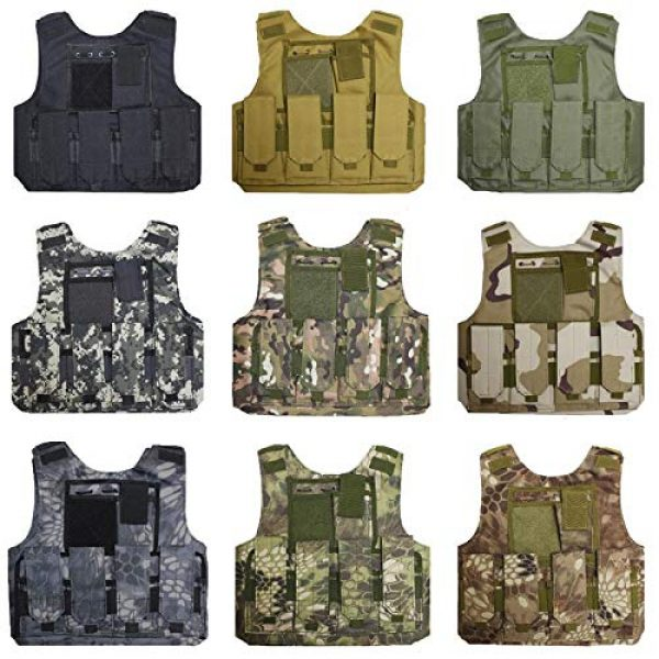 BGJ Airsoft Tactical Vest 2 BGJ Military Kids Camouflage Hunting Clothes CS Combat Equipment Tactical Army Vest Children Cosplay Costume Airsoft Sniper Uniform