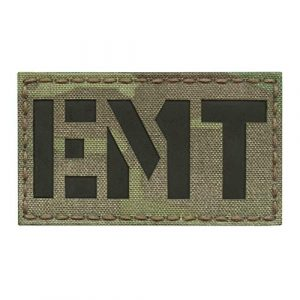 Tactical Freaky Airsoft Morale Patch 1 IR Multicam EMT Emergency Medical Technician 2x3.5 MED Medic EMS Tactical Morale Fastener Patch