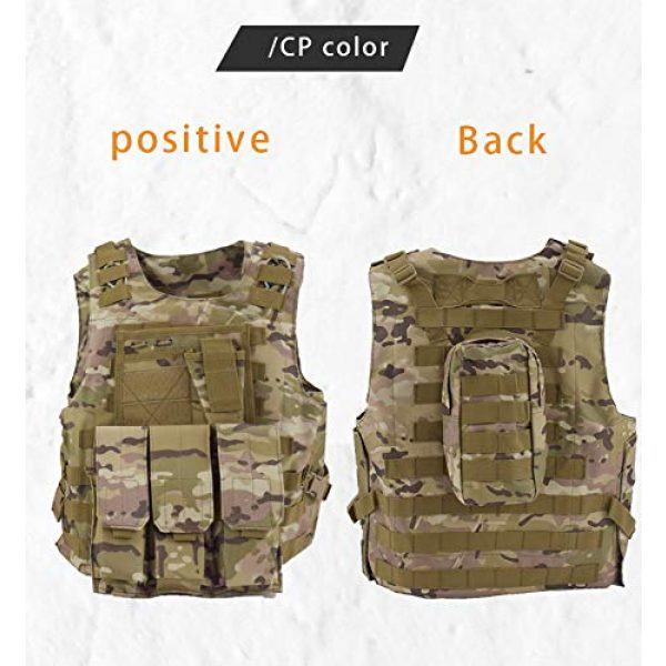 BGJ Airsoft Tactical Vest 4 Military Gear Army Paintball Combat Protective Vest Outdoor Camouflage Tactical Vest for Hunting Airsoft CS Wargame Body Armor