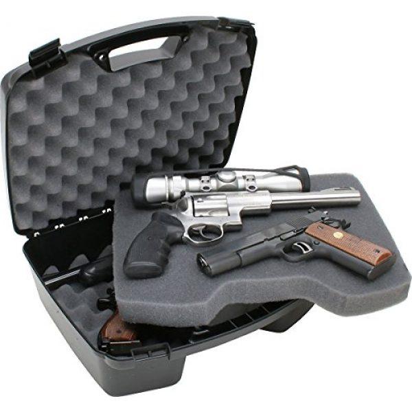 MTM Pistol Case 2 MTM Case-Gard Four Pistol Handgun Case, Black