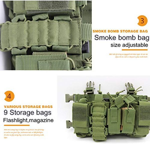 BGJ Airsoft Tactical Vest 6 BGJ Military Equipment Tactical Vest Airsoft Paintball Carrier Strike Chaleco Chest rig Pack Pouch Light Weight Heavy Duty Vest