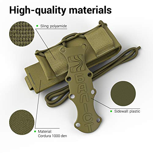 ATAIRSOFT  4 ATAIRSOFT KOLCHAN Fast MAG Tactical Top Open Single 9mm and 7.62mm Pistol Magazine Holder Very Durable of 1000 D Cordura fastmag Holster and MOLLE Compatible Airsoft Hunting Shooting