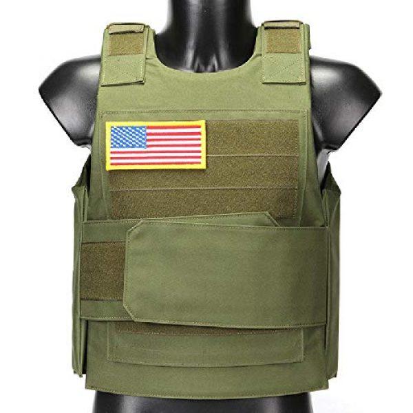 BGJ Airsoft Tactical Vest 7 Hunting Combat CS Vest Black Hawk Green Sports Vest Down Body Armor Plate Tactical Airsoft Carrier Vest CB Camo Woodland Outdoor