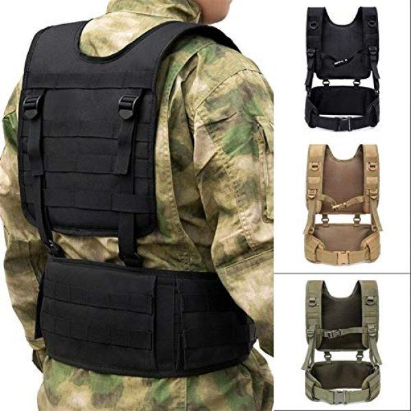 Shefure Airsoft Tactical Vest 2 Shefure Military Tactical Vest Chest Rig MOLLE Combat Waist Belt Men Army Cummerbunds Airsoft Paintball Equipment Outdoor Hunting Vest