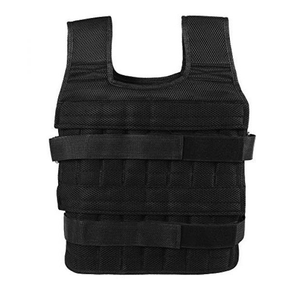 Aiggend Airsoft Tactical Vest 1 Tactical Vests, 50KG Weighted Vest Strength Training Jacket for Workout Fitness