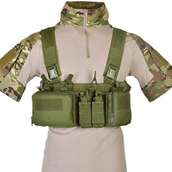 BGJ Airsoft Tactical Vest 1 BGJ CS Match Wargame TCM Chest Rig Airsoft Tactical Vest Military Pack Magazine Pouch Holster Molle System Waist Men Nylon