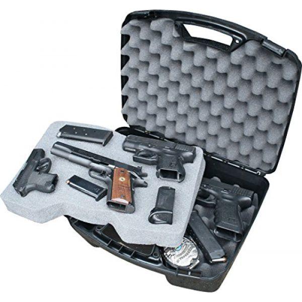 MTM Pistol Case 3 MTM Case-Gard Four Pistol Handgun Case, Black