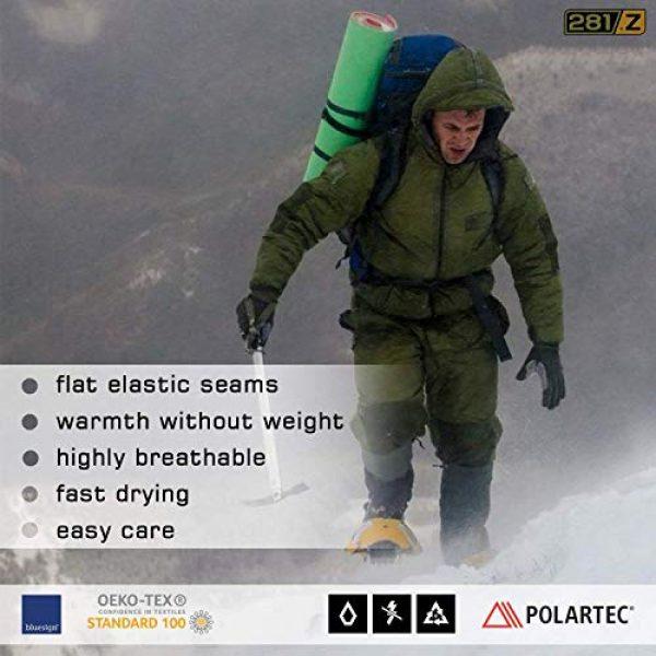 281Z Combat Boot Sock Liner 4 Military Warm 6 inch Liners Boot Socks - Outdoor Tactical Hiking Sport - Polartec Fleece Winter Socks (Green Khaki)