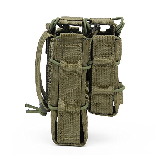 ATAIRSOFT  2 ATAIRSOFT Tactical 1000D Nylon Double MAG Pouch for Hunting Wargame Airsoft Molle Magazine Pouch