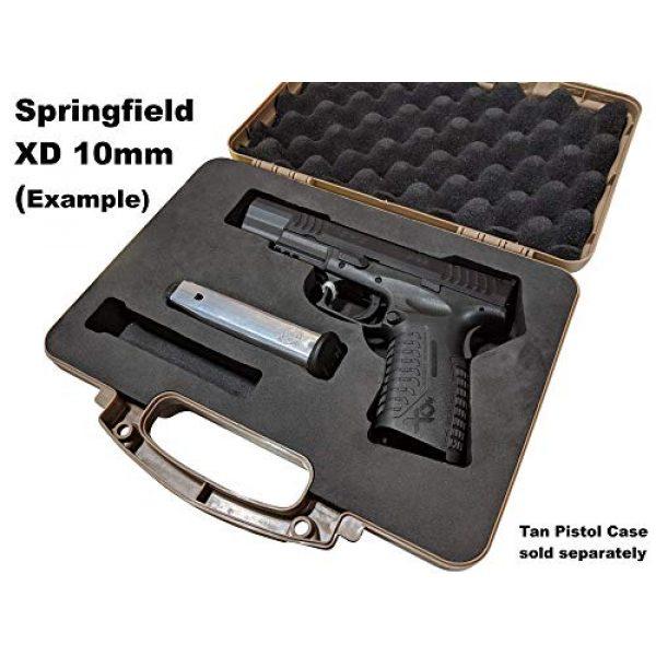 Cedar Mill Fine Firearms Pistol Case 2 Custom EVA Pistol Foam - 1911 Colt Beretta 90 CZ 75 SHADOW 1 and 2 9mm Canik SFX / SA FNH FNS Grand Power Excalibur H&K USP Magnum Research MR9 Ruger American SR11 Smith&Wesson SIG SAUER