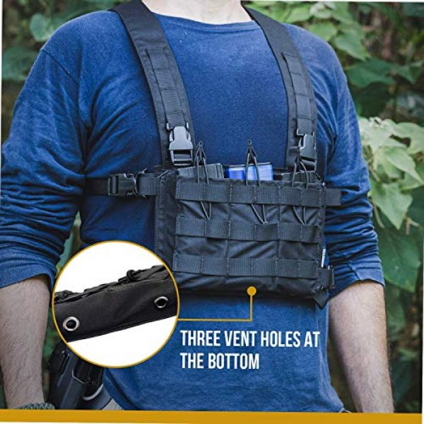 OneTigris Airsoft Tactical Vest 7 OneTigris Tactical Panel Placard Adapter & Tactical Placard 03 (Black)