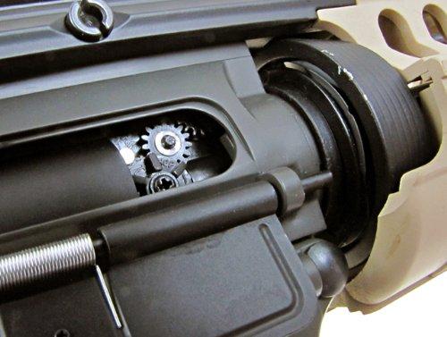 Jing Gong (JG)  6 JG airsoft m4 s-system full metal gearbox desert tan aeg rifle w/ integrated ris and high performance tight bore barrel - newest enhanced model(Airsoft Gun)