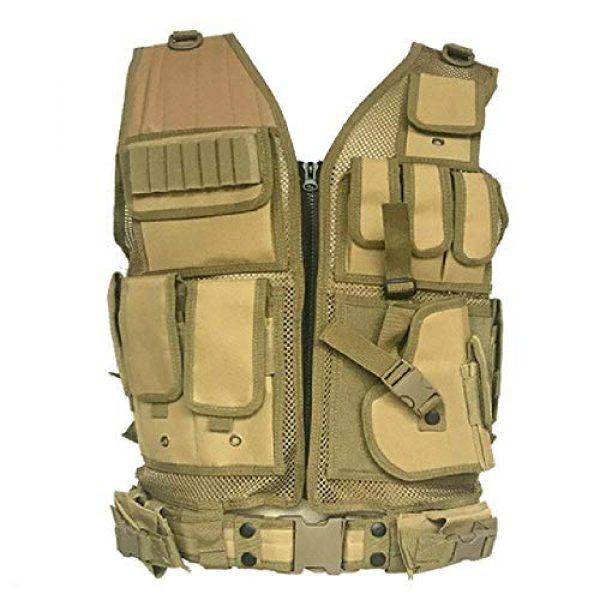 BGJ Airsoft Tactical Vest 1 BGJ Tactical Vest Military Combat Armor Vests Mens Tactical Hunting Vest Army Adjustable Armor Outdoor CS Training Vest Airsoft