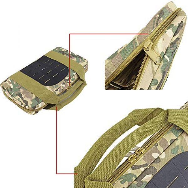 JFFCE Pistol Case 3 JFFCE Tactical Molle Pistol Storage case for Single Pistol and Mag with Heavy Duty Double Zippers