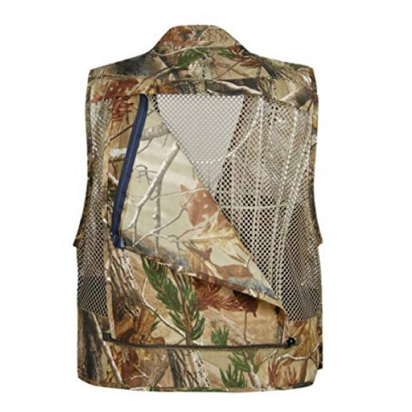 DAFREW Airsoft Tactical Vest 4 DAFREW Men Outdoor Sport Multi-Pocket Mesh Vest Fly Fishing Photography Shooting Travel Quick-Dry Jacket Waistcoat (Color : Shallow Army Green, Size : M)