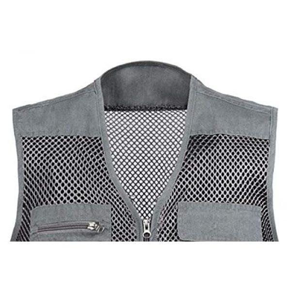 DAFREW Airsoft Tactical Vest 5 DAFREW Mesh Breathable Vest Multi-Function Leisure Fishing Photography Vest Quick-Drying Vest Multi-Pocket Men's Vest (Color : Gray, Size : XL)