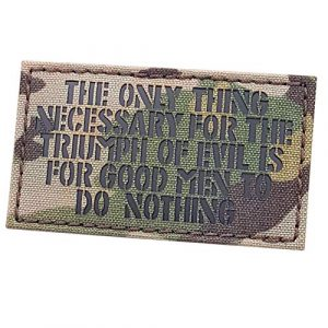Tactical Freaky Airsoft Morale Patch 1 IR Multicam The Only Thing Necessary Triumph of Evil 2x3.5 OCP Morale Patch