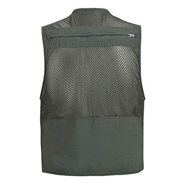 ZHYLOVE Airsoft Tactical Vest 2 ZHYLOVE Multifunction Mens Fishing Vest Jacket Mesh Vest Sleeveless Multi-Pocketed Thin Section Outdoor Breathable Hollow Out Thin for Camping Photography Fishing Hunting Waistcoat