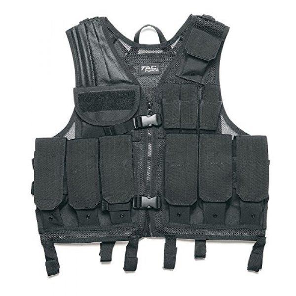 TAC Force Airsoft Tactical Vest 1 TAC Force S86015 Commando Tactical S.O.T. Vest, Black, One Size