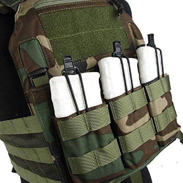 BGJ Airsoft Tactical Vest 5 BGJ Outdoor Tactical Vest Woodland 500D Cordura Domestic Fabric