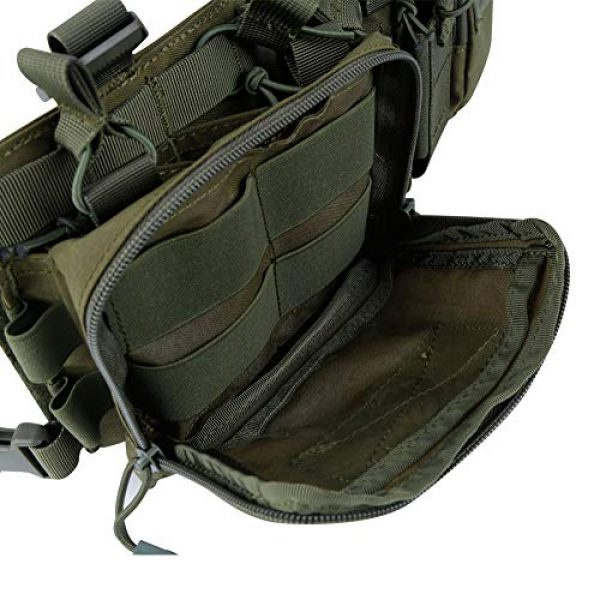 Tactical Area Airsoft Tactical Vest 6 Tactical Area Military Multi-Functional Vest Breathable Lightweight Vest with Detachable Pouches and Straps