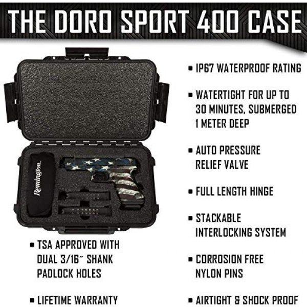MY CASE BUILDER Pistol Case 3 1 Pistol 2 Magazine + Accessory Medium Duty Lightweight Waterproof Single Gun Sport Case - Doro Cases with Custom Mycasebuilder Foam Insert