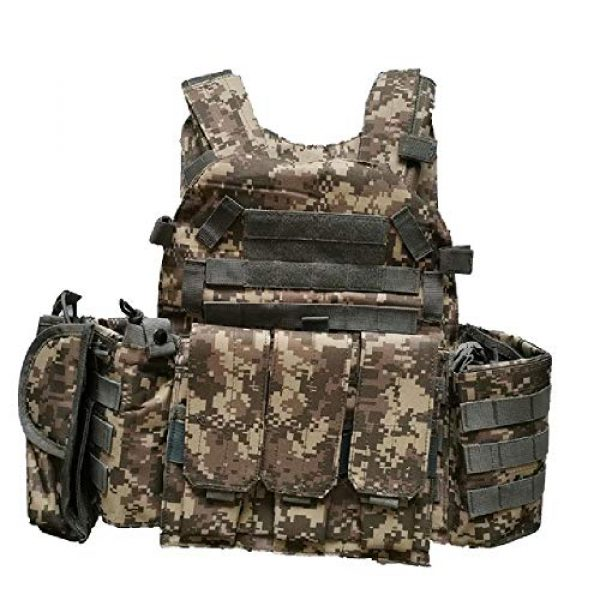 BGJ Airsoft Tactical Vest 1 Hunting Airsoft Multicam Molle Nylon Modular Vest Tactical Combat Black Vests Outdoor 6094 Vests Military Men Clothes Army Vest