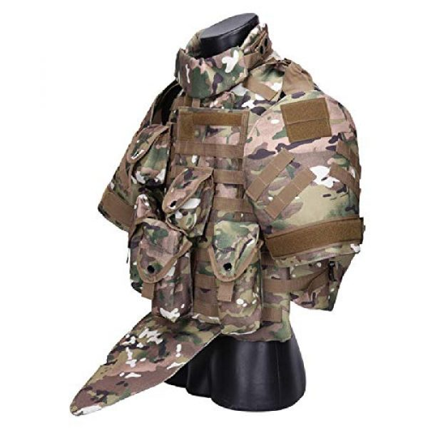 BGJ Airsoft Tactical Vest 4 Tactics Camouflage Vest Phantom Protective Modular Vest Body Armor Airsoft Wargame Hunting Outdoor Sports Activities