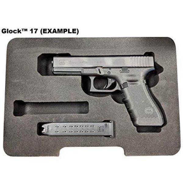 Cedar Mill Fine Firearms Pistol Case 5 Glock Compatible Go-Pack | Custom case with EVA display foam to protect your G17 9mm Gen1,2,3,4,5 G22 .40 Gen1,2,3,4,5 G19 19 9mm Gen1,2,3,4,5 G23 .40 Gen1,2,3,4,5 G26 9mm Gen1,2,3,4,5 G27 .40 Gen1,2