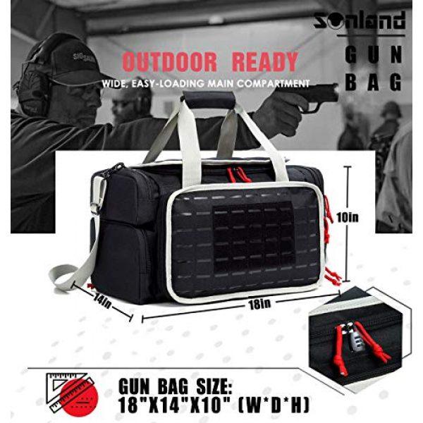 AUMTISC Pistol Case 5 AUMTISC Pistol Range Bag Tactical Shooting Gun Range Bag with Penty of Room for Handguns Lightweight Durable