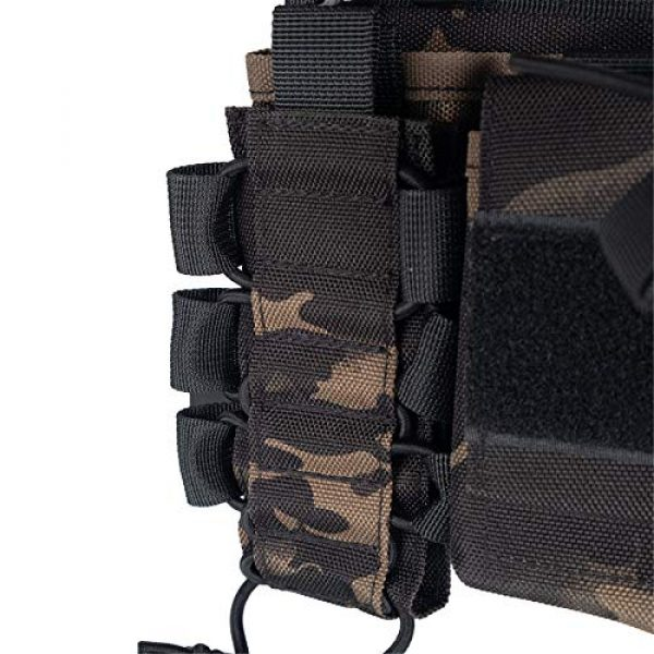 Armiya Airsoft Tactical Vest 5 Armiya Chest Rigs Tactical Airsoft, Molle Multifunction Paintball Rig Pistol Holster Harness Bag Vest for Men Shooting Hunting Training