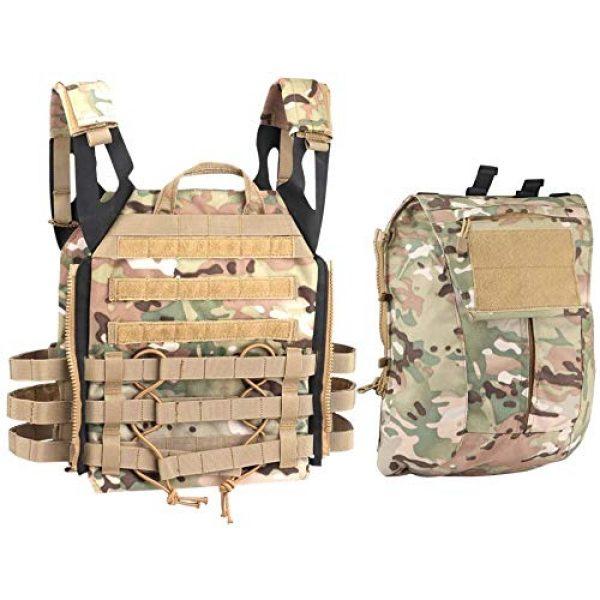 Kayheng Airsoft Tactical Vest 1 Kayheng Tactical Vest + Backpack/Modular Vest + Backpack/Breathable Combat Training JPC Vest Adjustable Lightweight MOLLE Vest