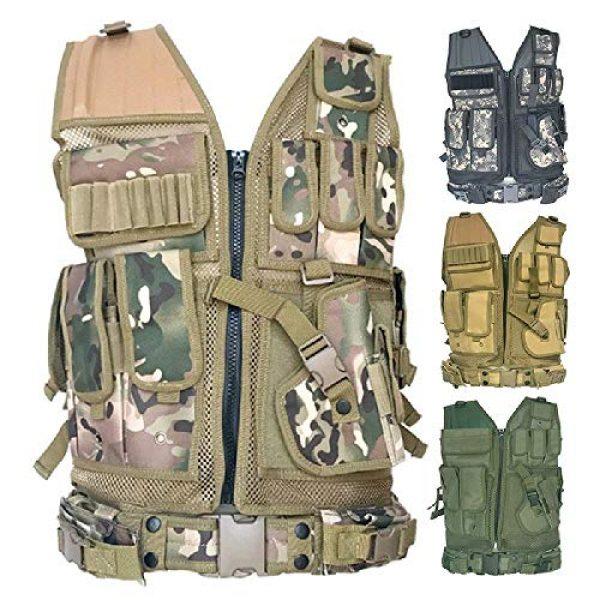 BGJ Airsoft Tactical Vest 2 BGJ Tactical Vest Military Combat Armor Vests Mens Tactical Hunting Vest Army Adjustable Armor Outdoor CS Training Vest Airsoft