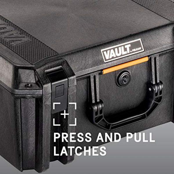 Pelican Pistol Case 5 Vault by Pelican - V550 Pistol/Equipment Case with Foam (Black)