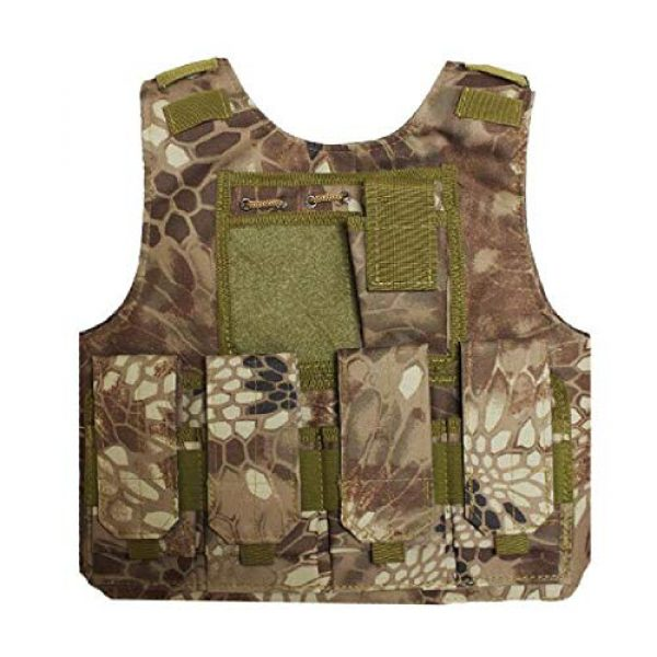 BGJ Airsoft Tactical Vest 1 BGJ Military Kids Camouflage Hunting Clothes CS Combat Equipment Tactical Army Vest Children Cosplay Costume Airsoft Sniper Uniform