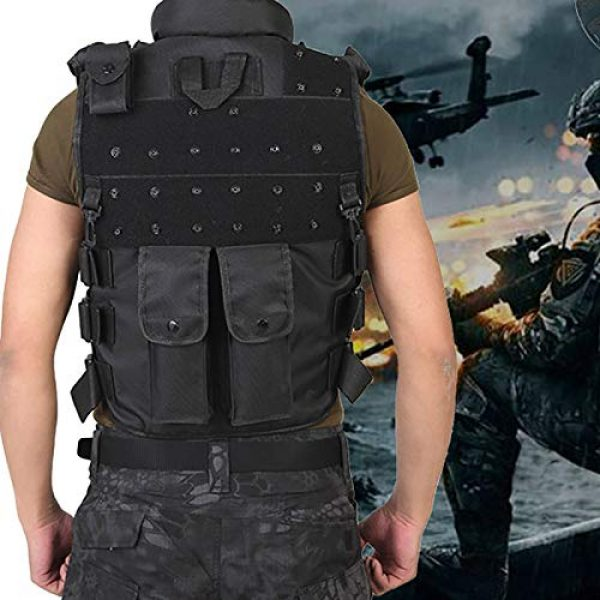 Moontie Airsoft Tactical Vest 6 Moontie Military Tactical Vest, Paintball Camouflage Molle Hunting Vest Assault Shooting Hunting Security Waistcoat