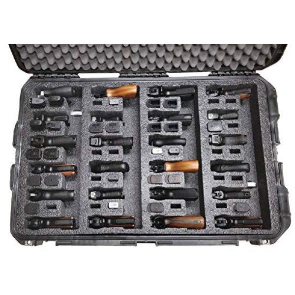 Case Club Pistol Case 2 Case Club 24 Pistol Pre-Cut Waterproof Case with x2 Silica Gel to Help Prevent Gun Rust