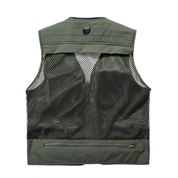 DAFREW Airsoft Tactical Vest 2 DAFREW Quick-Drying Vest Men's Summer Leisure Vest Outdoor Photography Vest Thin Section Sleeveless Shirt Fishing Vest (Color : Khaki, Size : L)