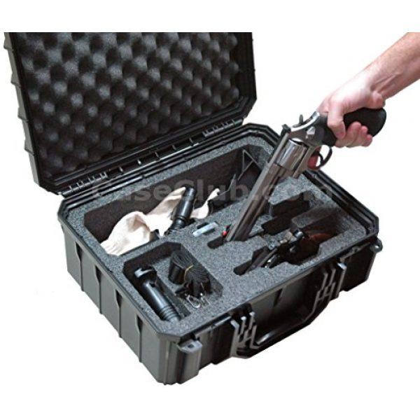 Case Club Pistol Case 4 Case Club Waterproof 2 Revolver/Semi-Auto Case with Accessory Pocket & Silica Gel