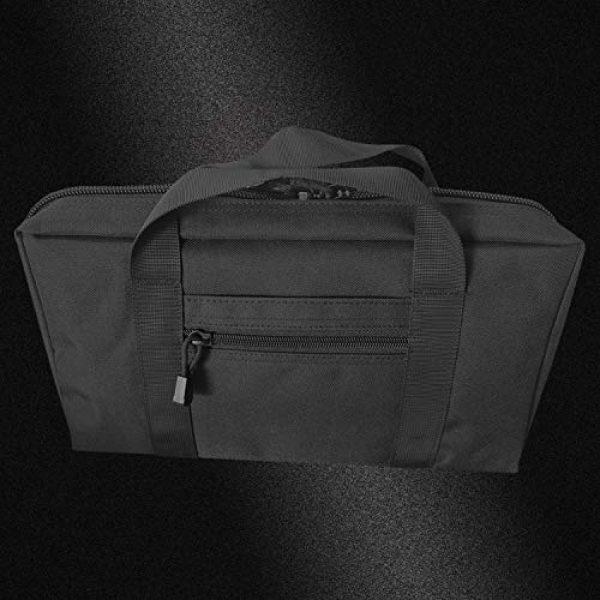 Champlus Pistol Case 4 Pistol Range Bag Tactical Pistol Bag Range Bags for Handguns and Ammo Soft Pistol Case Gun Range Bag for Handguns, Pistols and Ammo Shooting Range Pistol Bag Handgun Magazine Pouch-Black 1 Pack