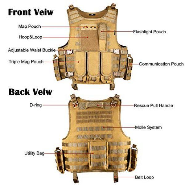 MGFLASHFORCE Airsoft Tactical Vest 4 MGFLASHFORCE Tactical Airsoft Vest Adjustable Modular Paintball Vest