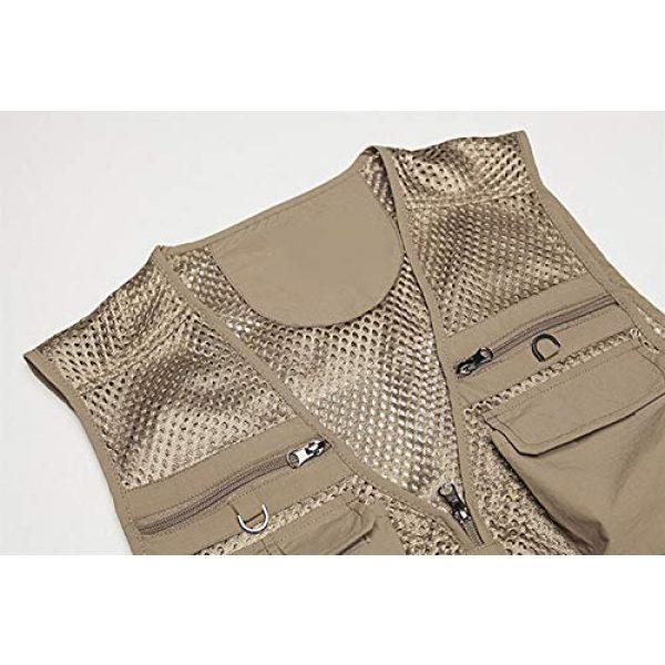 DAFREW Airsoft Tactical Vest 4 DAFREW Spring and Autumn Vest Men's Outdoor Photography Vest Multi-Pocket Vest Grid Vest (Color : Beige, Size : M)
