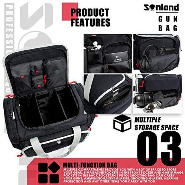 AUMTISC Pistol Case 4 AUMTISC Pistol Range Bag Tactical Shooting Gun Range Bag with Penty of Room for Handguns Lightweight Durable