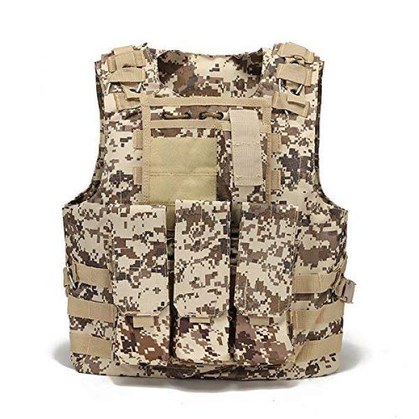 WEQ Airsoft Tactical Vest 1 WEQ Tactical Vest Outdoor Amphibious Vest Ultra-Light Breathable Combat Training Vest Adjustable for Adults(Standard Size) (Color : #F)