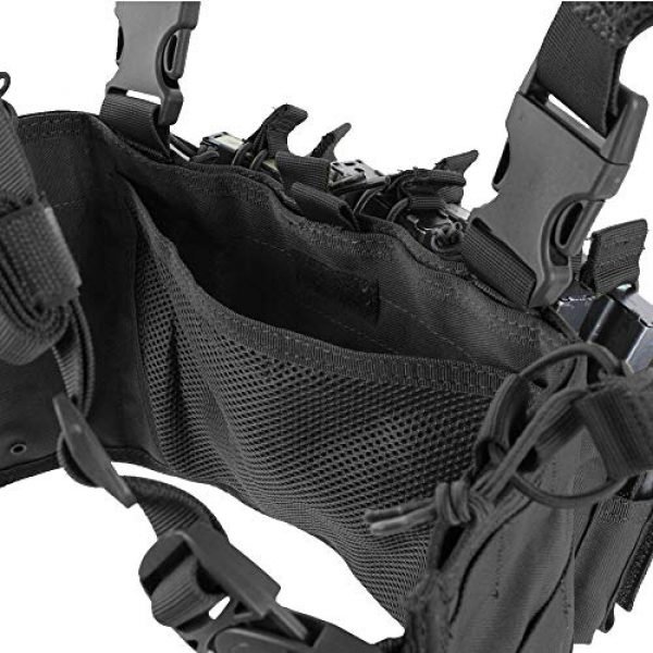 ATG Airsoft Tactical Vest 2 ATG Tactical Recon Rifle Pistol Magazine Pouches Chest Rig (Black)