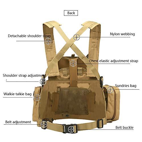 WEQ Airsoft Tactical Vest 3 WEQ Multifunctional Tactical Vest Modular Vest Reconnaissance Field CS Combat Vest (Color : #E)