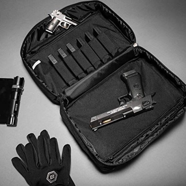 Sucipi Pistol Case 4 Sucipi Gun Case Soft Tactical Pistol Bag Hunting Shooting Range Bag Gun Bag for 2 Handguns and 9mm Ammo with Lock