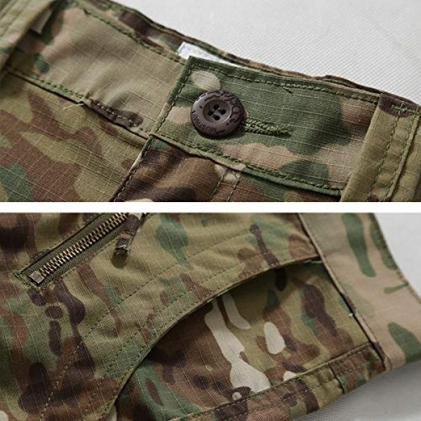 Hellmei Tactical Pant 3 Men's Tactical Pants with Multiple Pockets Men's Military Tactical Casual Camouflage Pants Hiking Pants