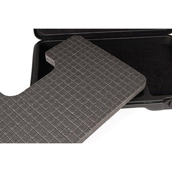 Negrini Cases Pistol Case 5 Negrini Cases 2023UTS/4839 Handgun Case (1 Gun), Black/Black